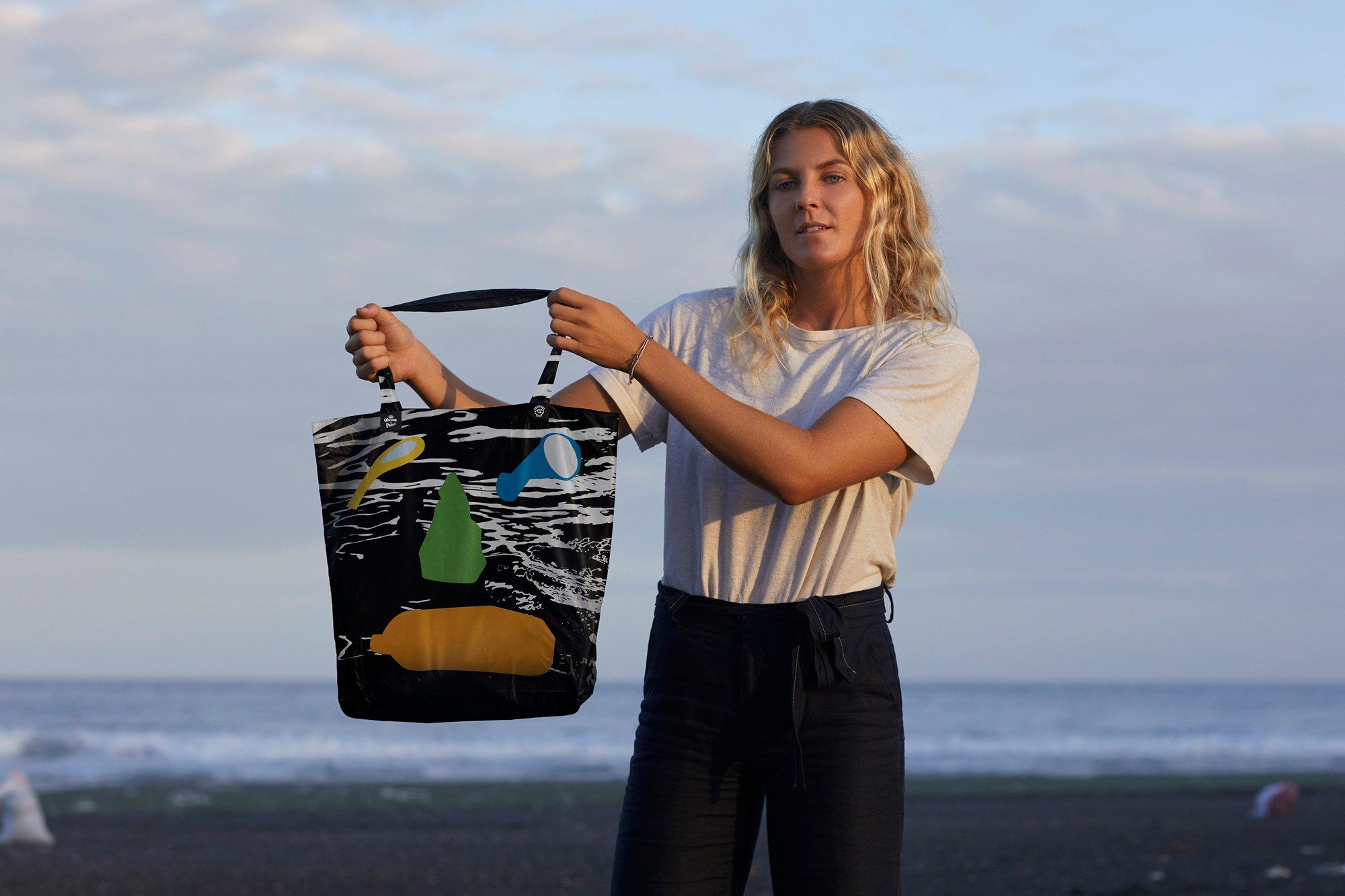 Black Parley Ocean Reusable Bag
